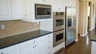 Peindre armoire de m lamine transformer armoires de - Peindre cuisine melamine ...