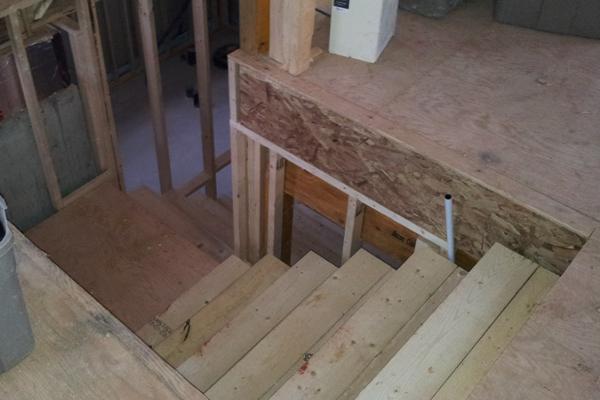 escalier sous-sol, escalier construction,