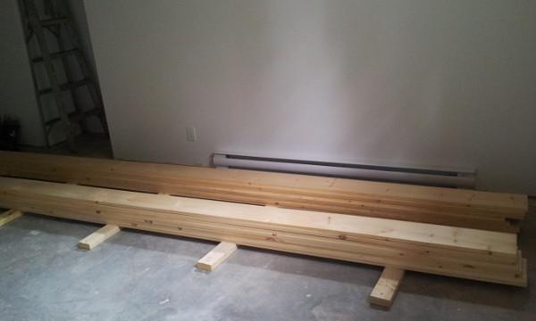 mur de bois, planche de pin,