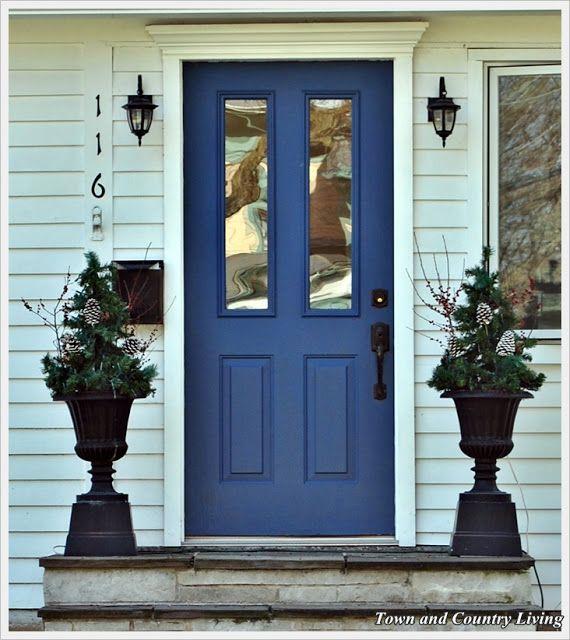 Porte d entr e bleu porte maison bleu royal - Porte d entree maison ...