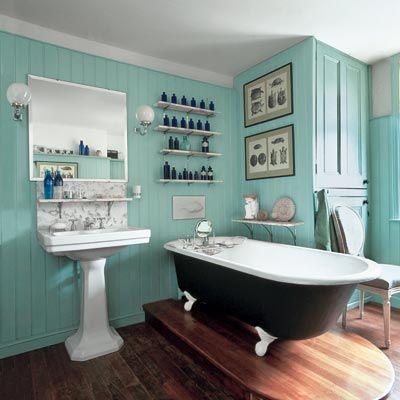 rustique chic, salle de bain rustique, |