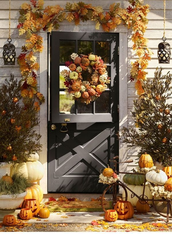 Porte entr e automne d co halloween porte d entr e - Decoration de porte halloween ...