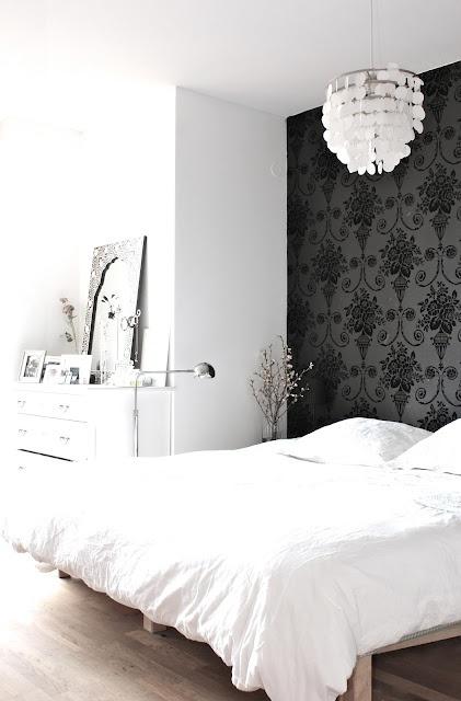 papier peint chambre à coucher, papier peint noir,