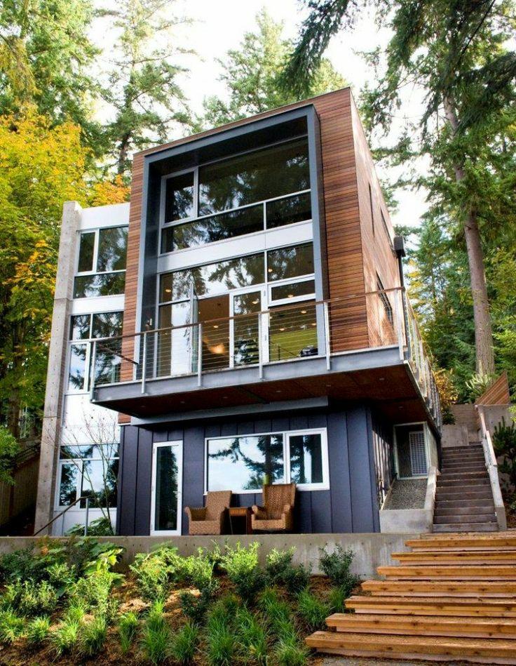Assez grande maison carré, maison contemporaine carrée, | TJ47