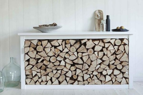 meuble bois de chauffage rangement bois de chauffage