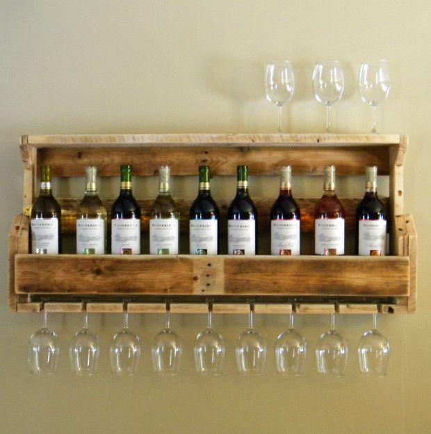 rack vin palette de bois bricolage palette de bois. Black Bedroom Furniture Sets. Home Design Ideas