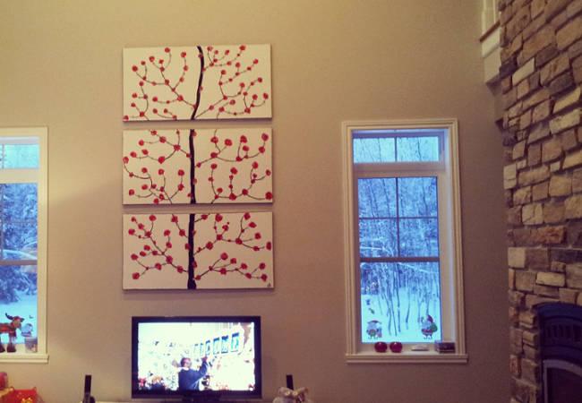 peinture salon, cadre et peinture, oeuvre d'art,