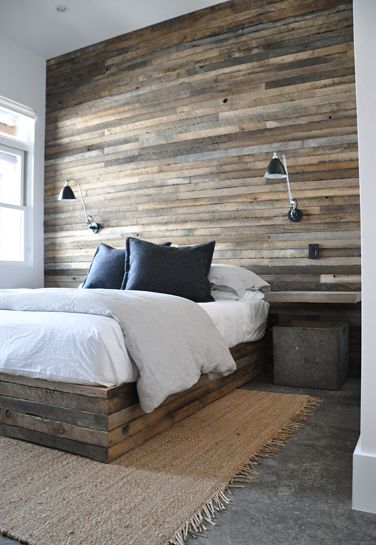 Mur Bois De Grange Chambre : Wood Wall Bedroom