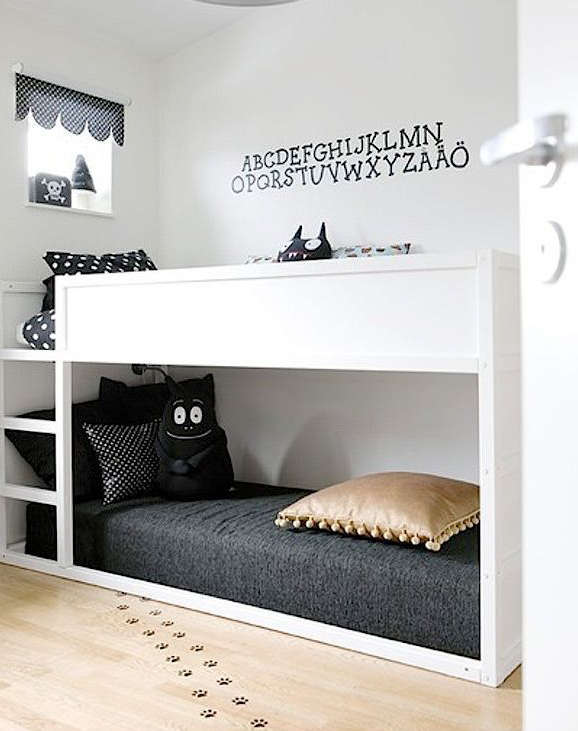 id e pour des lits superpos s et disposition. Black Bedroom Furniture Sets. Home Design Ideas
