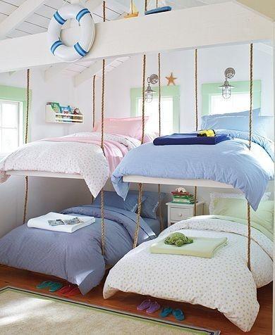 chambre 4 enfants, lits superposés 4 enfants,