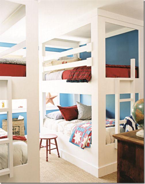 chambre pour 4 enfants, lits pour 4 enfants,