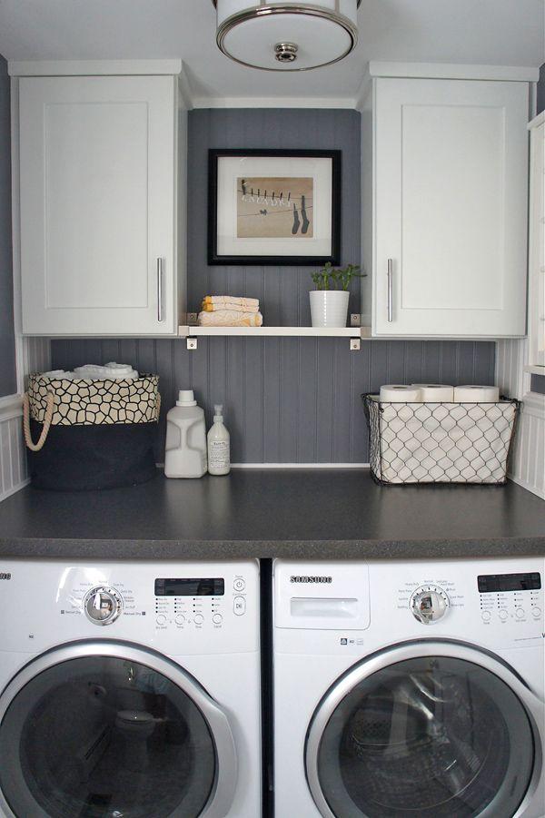 armoire petite salle de lavage, aménager petite salle de lavage,