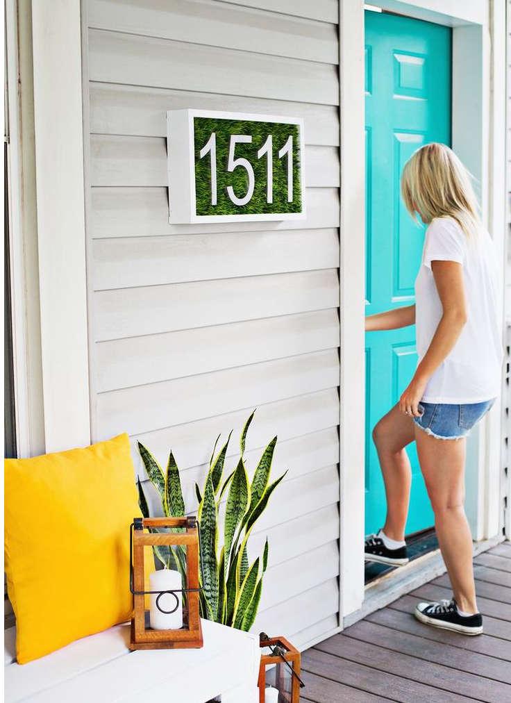 adresse maison moderne, numéro de maison moderne,