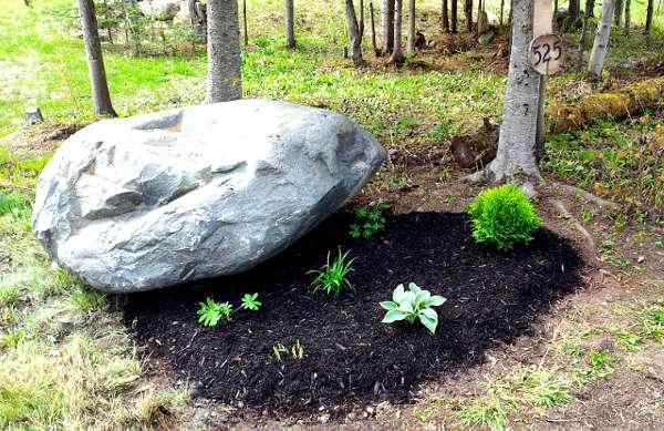 aménagement paysager roche, aménager contour roche,