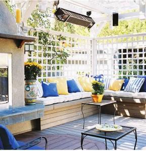 couleur terrasse extérieur, idée déco terrasse extérieur,   - Photo Deco Terrasse Exterieur