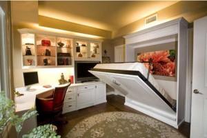 bureau et chambre d\'amis, aménagement bureau et chambre, |