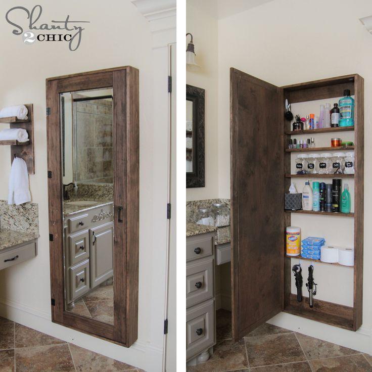 Miroir rangement salle de bain armoire de rangement salle for Rangement mural plastique salle de bain