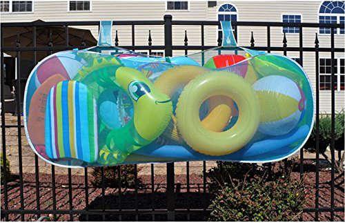 sac pour ranger les jouets autour de la piscine
