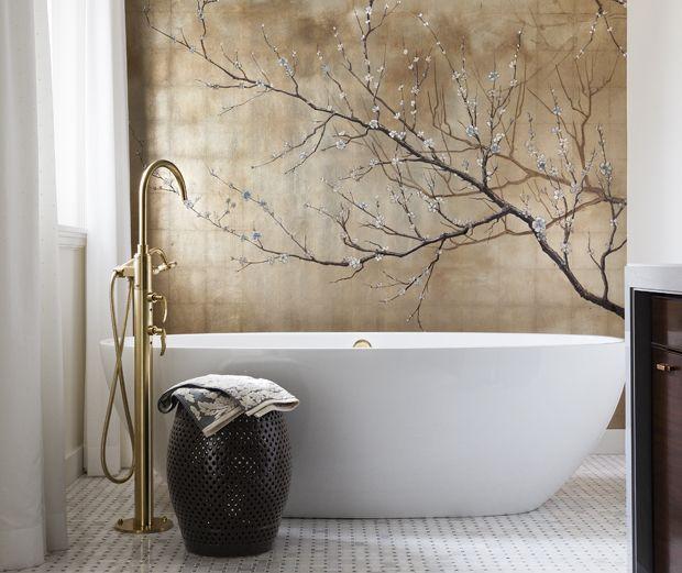asian decor salle de bain tapisserie salle de bain. Black Bedroom Furniture Sets. Home Design Ideas