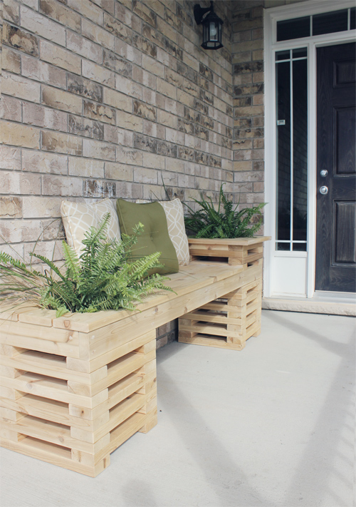 Banc Bois Exterieur Design : DIY Cedar Bench with Planters