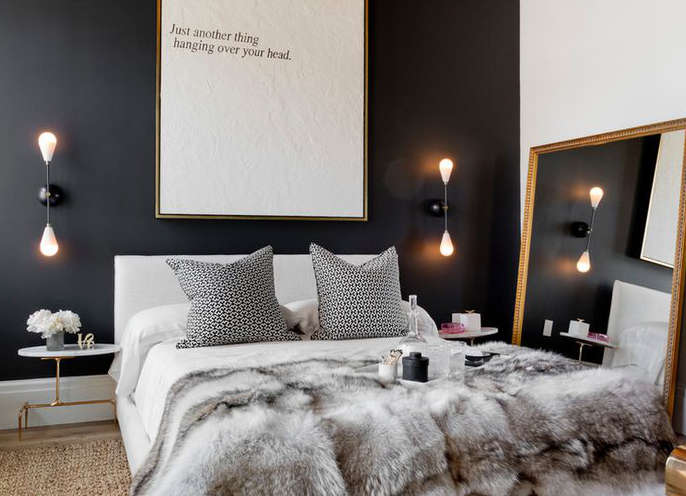 couleur noir chambre. Black Bedroom Furniture Sets. Home Design Ideas