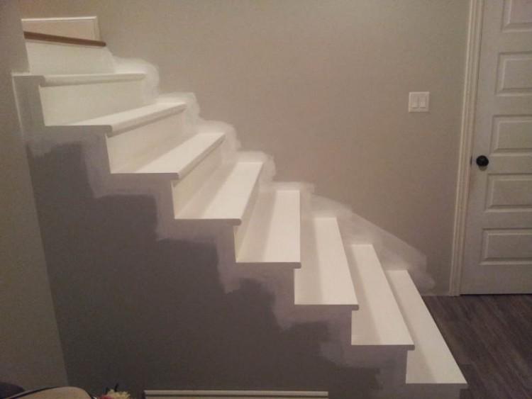 Finition de l'escalier du sous-sol en K3