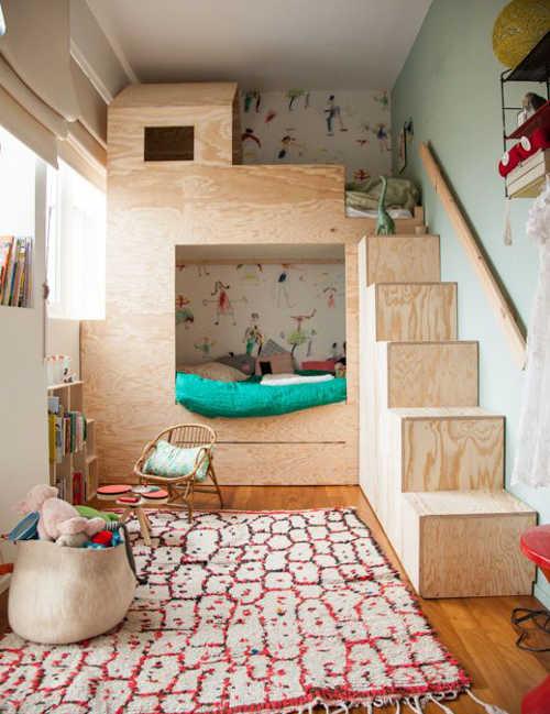 id e pour des lits superpos s et disposition. Black Bedroom Furniture Sets. Home Design Ideas