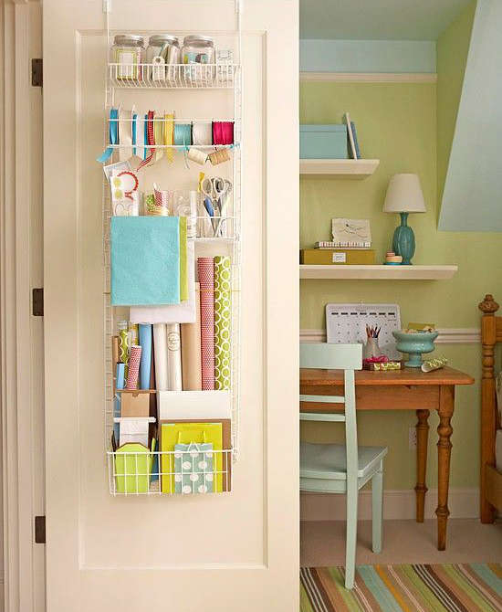 35 Home Storage Ideas Room By Room: Rangement Derrière Un Porte