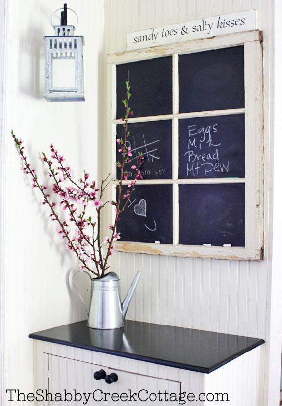 Fabriquer un tableau noir avec vieille fenêtre
