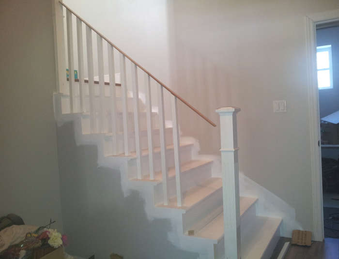 hauteur de la rampe d'escalier