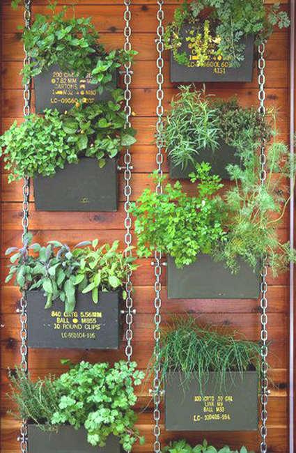DIY jardin vertical pour les fines herbes