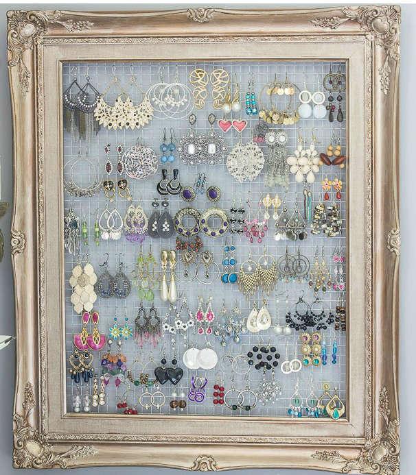 diy frame organizer jewelry