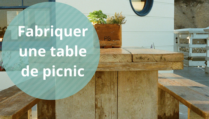 fabriquer une table de picnic. Black Bedroom Furniture Sets. Home Design Ideas