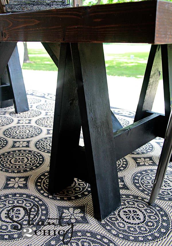 DIY table à diner pour la terrasse extérieure