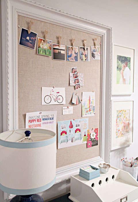 fabriquer un tableau et babillard avec un cadre