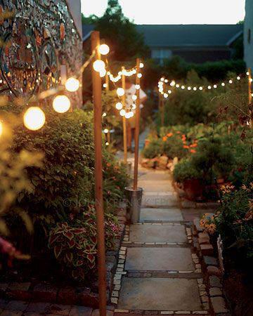 Guirlande lumineuse pour éclairer un sentier