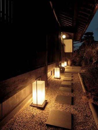 Éclairage japonais pour l'extérieur de la maison