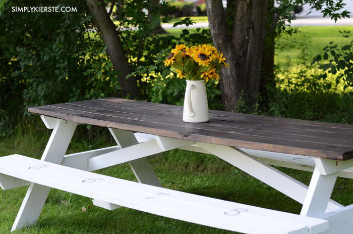 Modèle de table de picnic farmhouse
