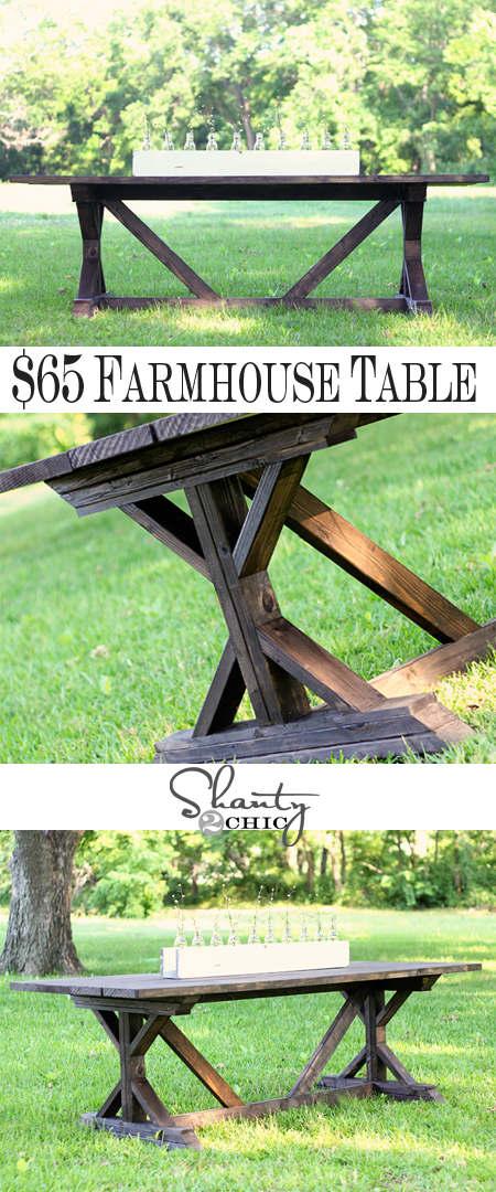 DIY table de picnic rustic-chic