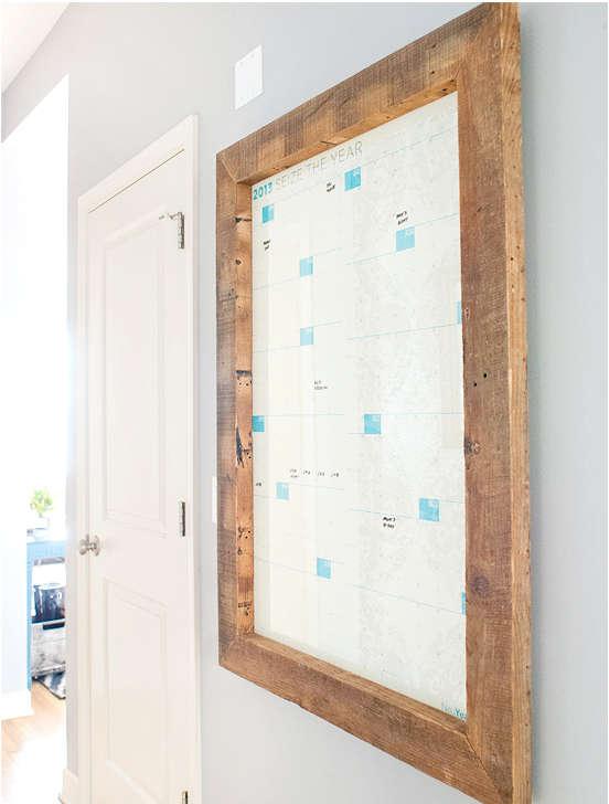 transformer un cadre en bois en calendrier