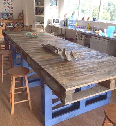 Fabriquer un îlot de cuisine avec des palettes de bois