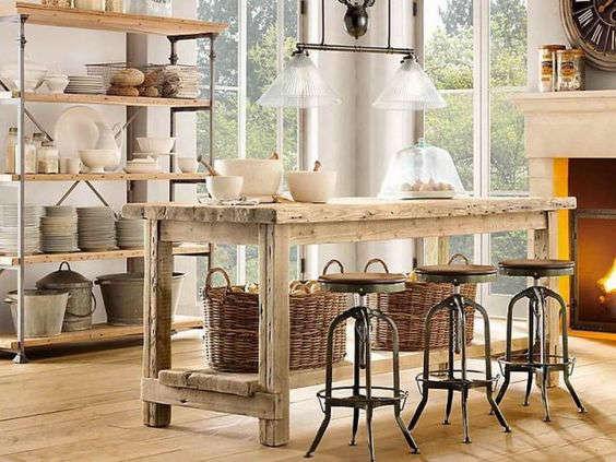 fabriquer un îlot de cuisine vintage en bois