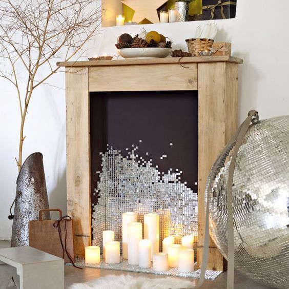 Fabriquer un faux manteau de cheminée en bois pour Noël