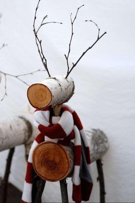 fabriquer un renne du Père-Noël en bois